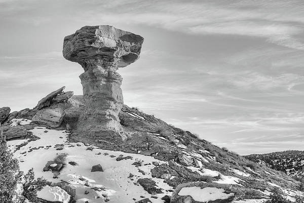 Photograph - Camel Rock Black And White by JC Findley