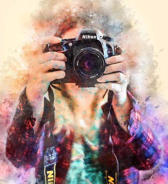 Camera Painting - Camera by ArtMarketJapan