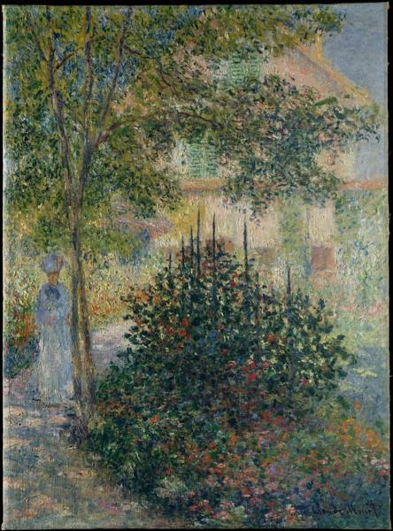 Wall Art - Painting - Camille Monet  1847 1879 In The Garden At Argenteuil , Claude Monet by Celestial Images
