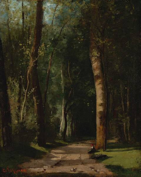 Wall Art - Painting - Camille Pissarro - Allee Dans Une Foret by Celestial Images