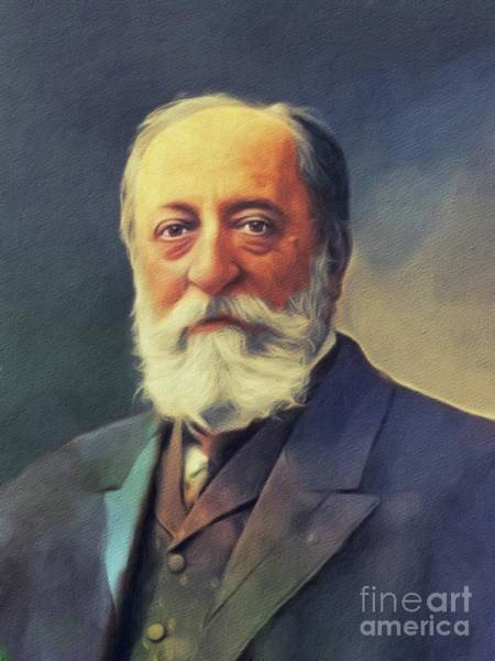 Wall Art - Painting - Camille Saint Saens, Music Legend by John Springfield