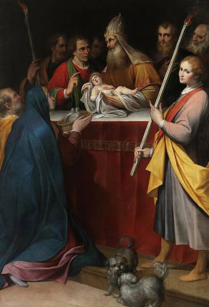 Procaccini Painting - Camillo Procaccini / 'the Presentation Of Jesus At The Temple', 17th Century, Italian School. by Camillo Procaccini -c 1551-1629-