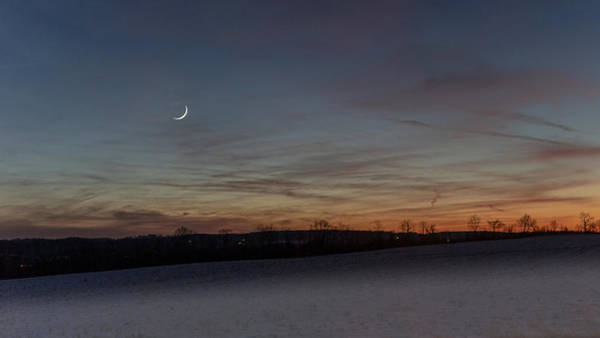 Photograph - Camillus Moonset by Rod Best