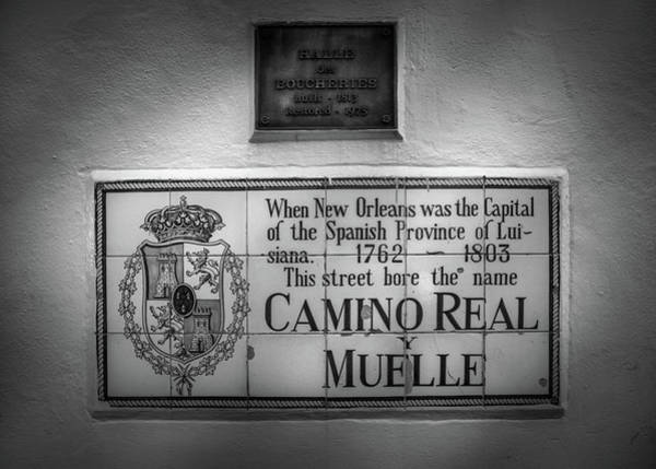 Wall Art - Photograph - Camino Real Y Muelle In Black And White by Greg and Chrystal Mimbs