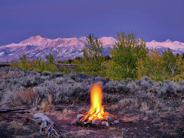 Altitude Photograph - Camp Fire Warmth by Leland D Howard