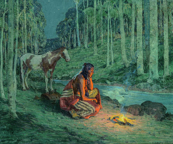 Painting - Camp In The Aspens by Eanger Irving Couse