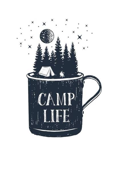 Digital Art - Camp Life by Heather Applegate