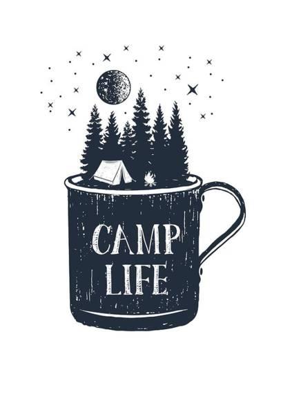 Digital Art - Camp Life by Heather Applegate