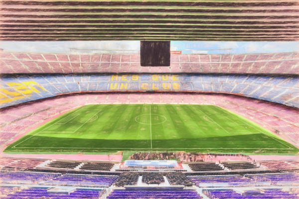 Wall Art - Photograph -  Camp Nou Stadium Art by David Pyatt