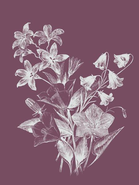 Love Mixed Media - Campanulas Purple Flower by Naxart Studio