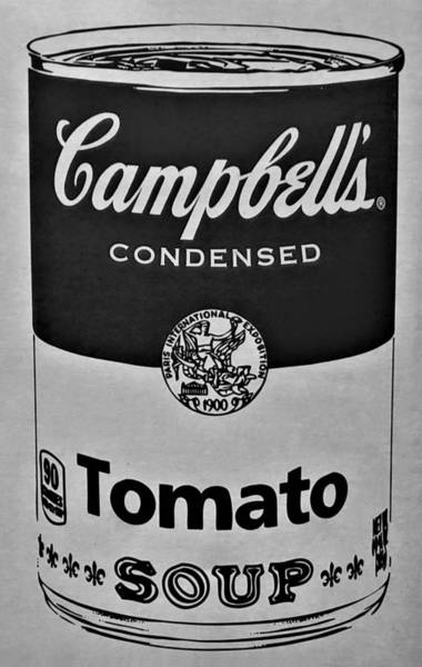 Photograph - Campbell's Soup In Black And White by Rob Hans