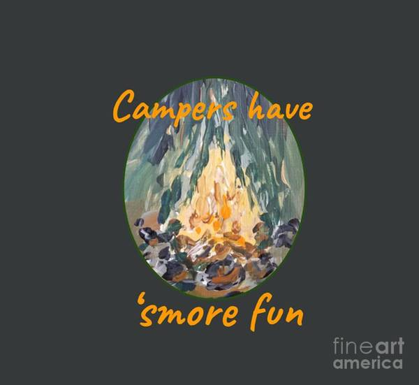 Painting - Campers Have Smore Fun by Maria Langgle