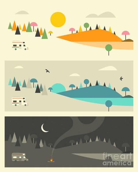 Wall Art - Digital Art - Campfire 3 by Jazzberry Blue