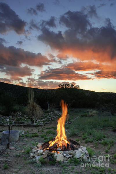 Photograph - Campfire At Sunset by Steven Natanson