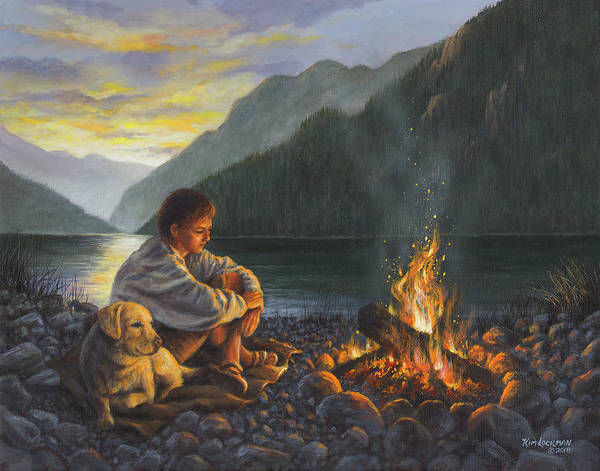 Painting - Campfire Companions by Kim Lockman