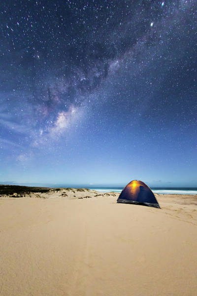 Tent Photograph - Camping In A Tent Under The Milky Way by John White Photos