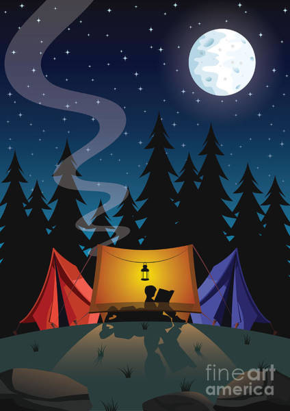 Camp Wall Art - Digital Art - Camping by Nikola Knezevic
