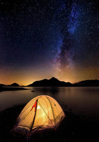 Vancouver Island Photograph - Camping Under The Milky Way by Alexis Birkill