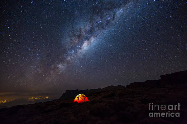 Camper Wall Art - Photograph - Camping Under The Stars. The Milky Way by Tcs Photography