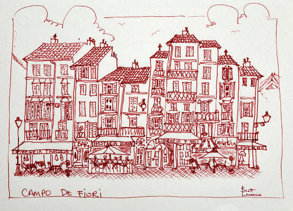 Outdoor Cafe Photograph - Campo De Fiori Is One Of The Great by Richard Lawrence