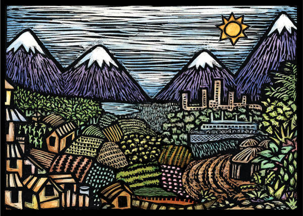 Scratchboard Wall Art - Mixed Media - Campo by Ricardo Levins Morales