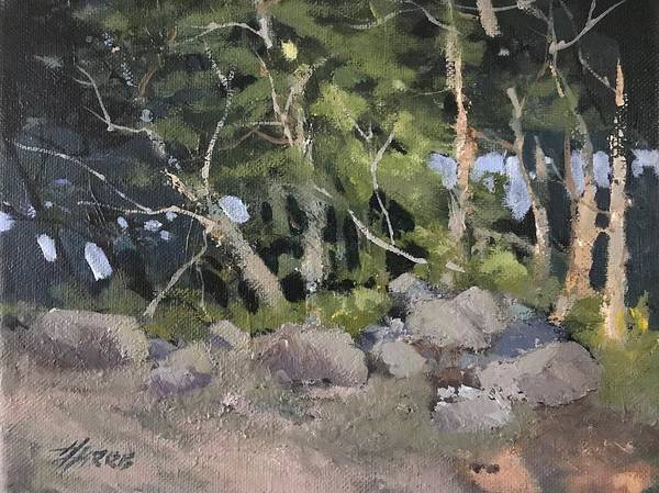 Painting - Campsite by Helen Harris