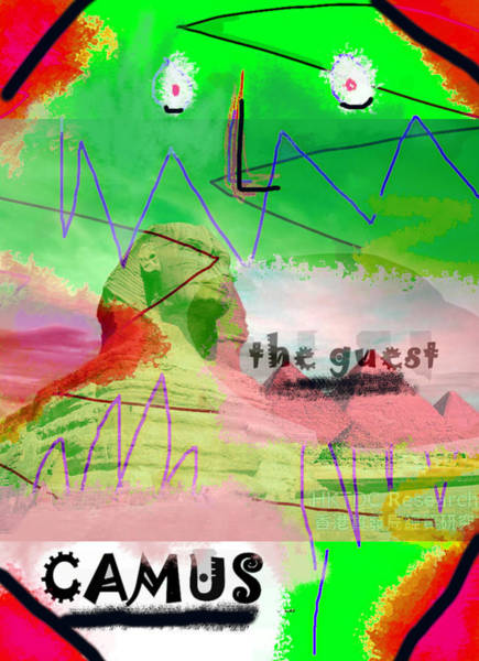 Drawing - Camus The Guest Poster  by Paul Sutcliffe