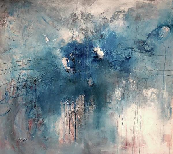 Painting - Can You Hear Me Now In Blue by Laurie Maves ART