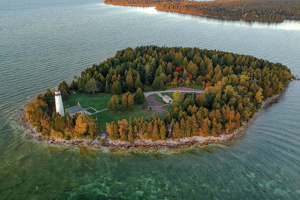 Wall Art - Photograph - Cana Island Aerial by Adam Romanowicz