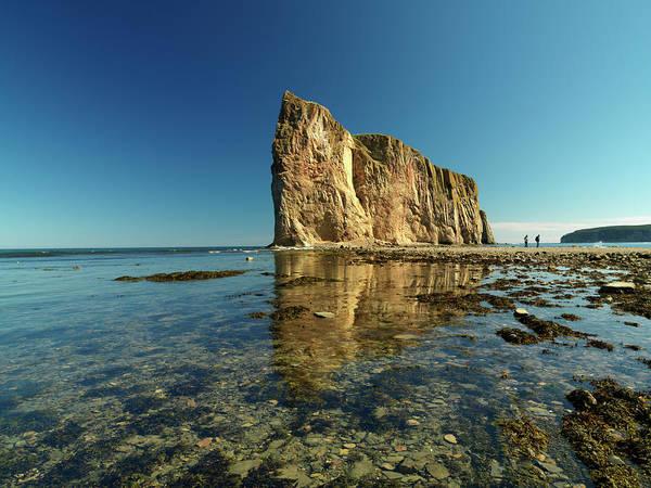 Quebec Photograph - Canada, Quebec, Gaspesie, Perce Rock At by Cosmo Condina