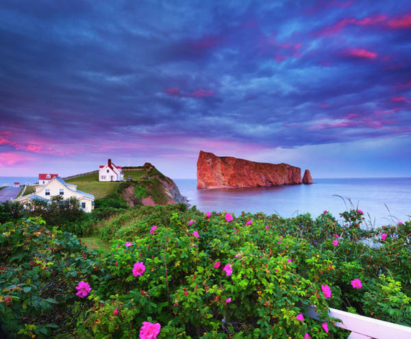 Quebec Photograph - Canada, Quebec, Gaspesie, Perce Rock by Slow Images