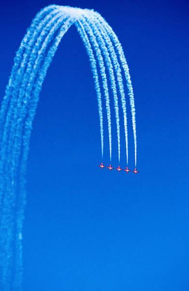 Vancouver Island Photograph - Canadian Air Force Snowbirds Aerobatics by Frank Carter