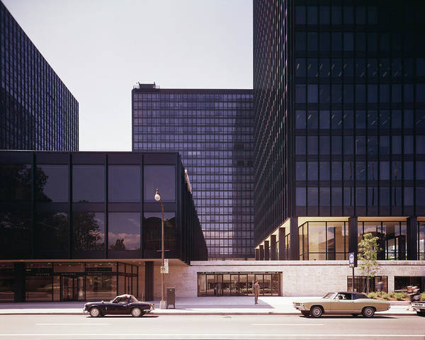 Street Photograph - Canadian Buildings Designed By Mies Van by Chicago History Museum