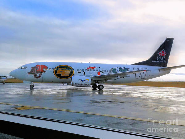 Wall Art - Photograph - Canadian Football League Official  Plane   by Elaine Manley