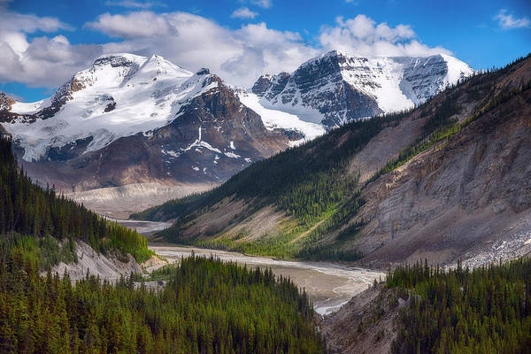 Wall Art - Photograph - Canadian Glaciers In Jasper National Park by Dave Dilli