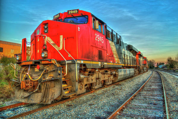 Canadian National Railway Photograph - Canadian National Trains Norfolk Southern Locomotives Art by Reid Callaway