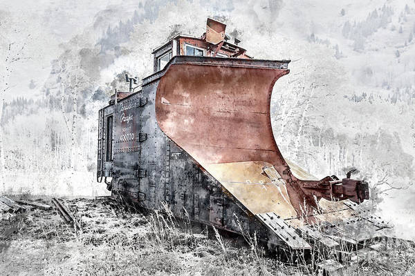 Digital Art - Canadian Pacific Snow Plow by Brad Allen Fine Art