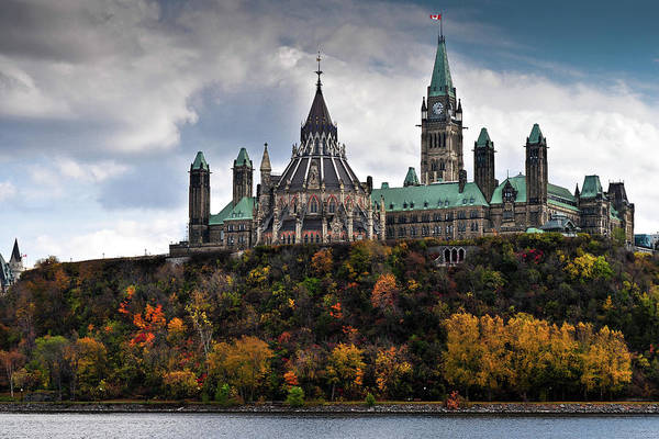 Ottawa Photograph - Canadian Parliament Buildings by Trevor Johnston / Eye Meets World Photography