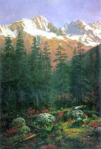 Rockies Digital Art - Canadian Rockies by Albert Bierstadt