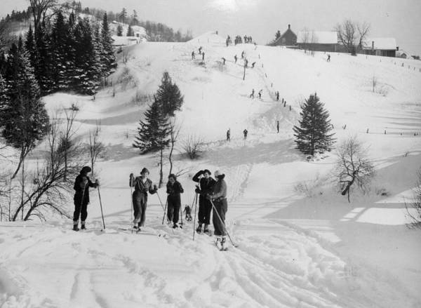 Canadian Culture Photograph - Canadian Skiers by Ashwood
