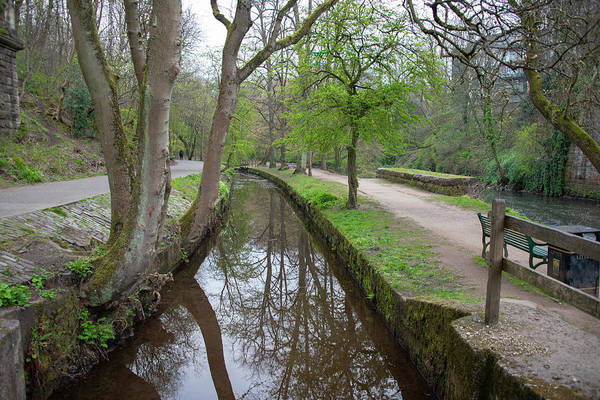 Wall Art - Photograph - Canal At Kelvinside - Glasgow Scotland by Bill Cannon
