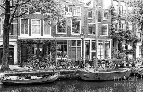 Photograph - Canal Boats In Amsterdam by John Rizzuto