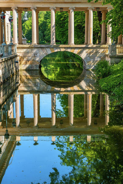 Wall Art - Photograph - Canal Bridge In Lazienki Park In Warsaw by Artur Bogacki