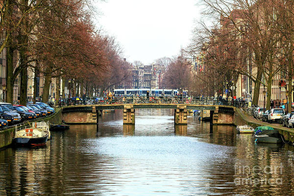 Photograph - Canal Bus Ride In Amsterdam by John Rizzuto