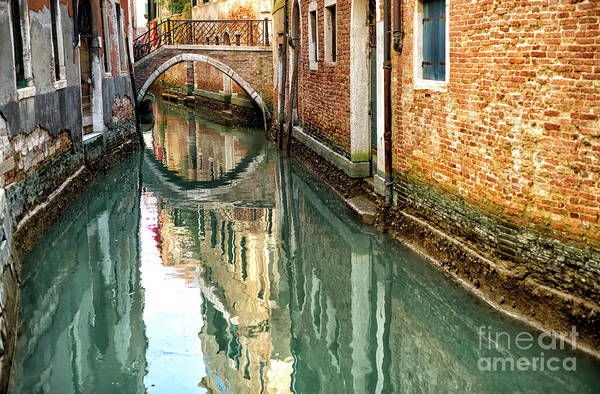 Photograph - Canal Curves In Venice by John Rizzuto