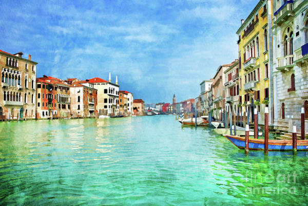 Wall Art - Painting - Canal Grande by Delphimages Photo Creations