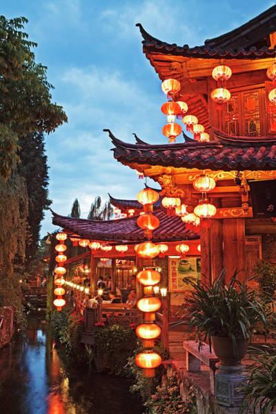 Photograph - Canal In Lijiang Old Town. Yunnan, China by John W Banagan