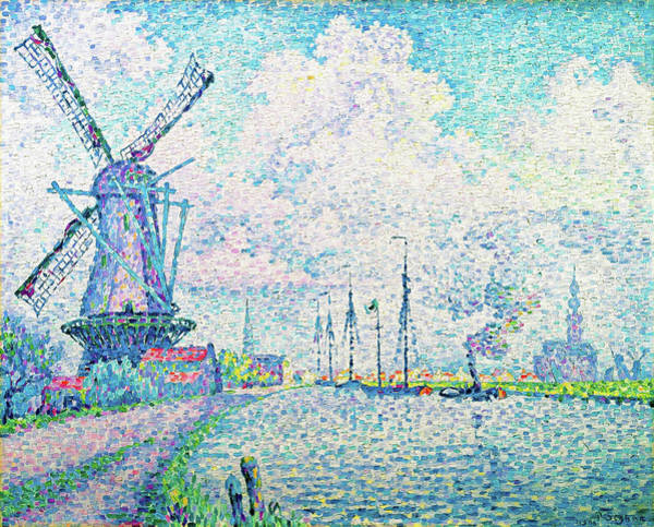 Neo-impressionism Wall Art - Painting - Canal Of Overschie - Digital Remastered Edition by Paul Signac