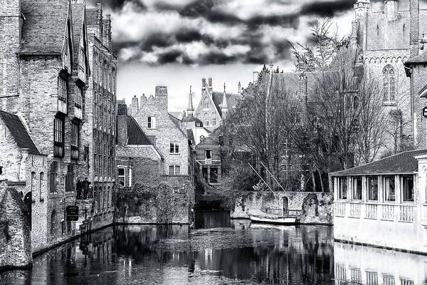 Wall Art - Photograph - Canal Reflections Bruges by John Rizzuto