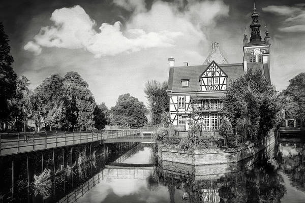 Wall Art - Photograph - Canal Reflections Gdansk Poland Black And White by Carol Japp